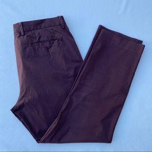 Stretch Italian Trousers Burgundy Slim 36 30